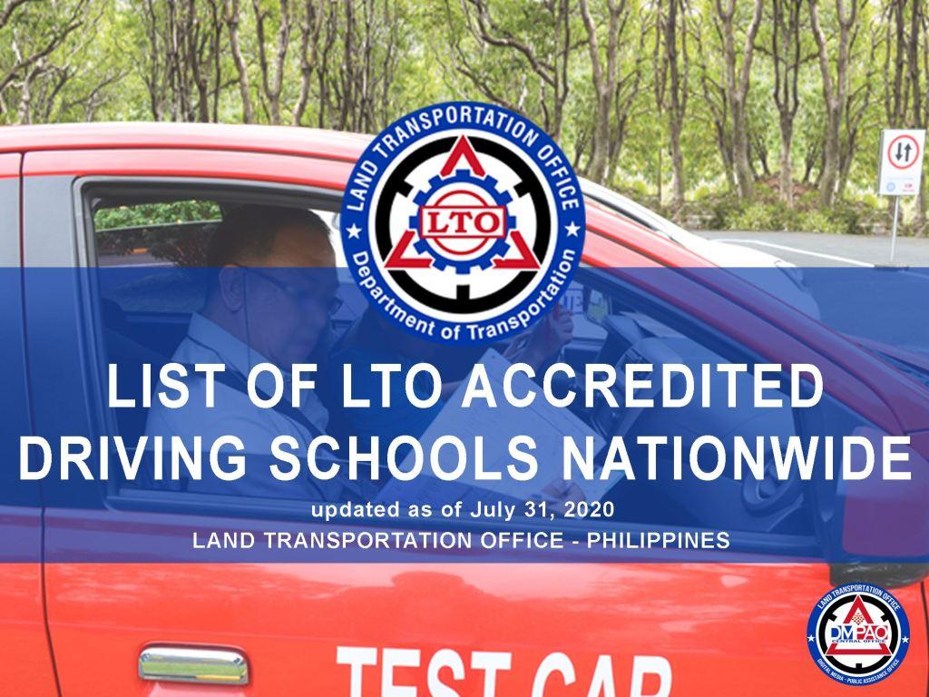 LIST OF DRIVERS EDUCATION CENTER (DEC)