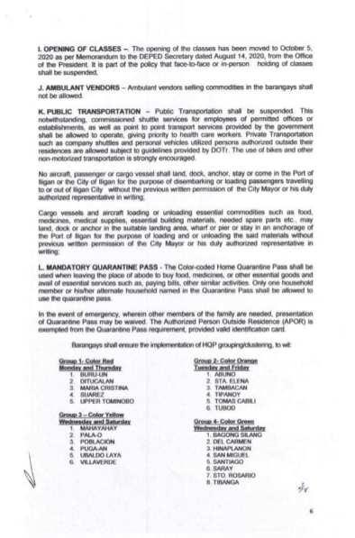 Executive Order (EO) No. 98 (8)