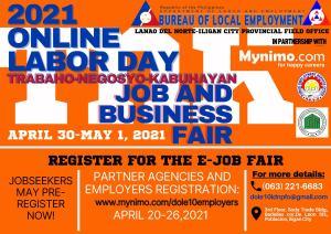Online Labor Day Trabaho-Negosyo-Kabuhayan Job and Business Fair
