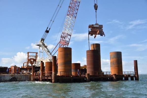 DPWH Works on Foundation of Panguil Bay Bridge (2)