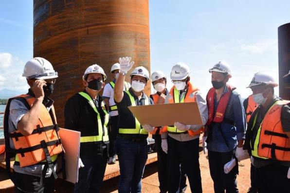 DPWH Works on Foundation of Panguil Bay Bridge (3)