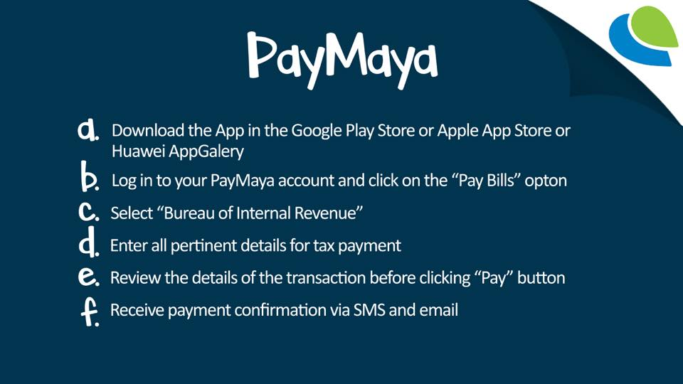 how to pay bir taxes online - paymaya