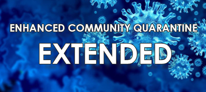 ENHANCED COMMUNITY QUARANTINE banner