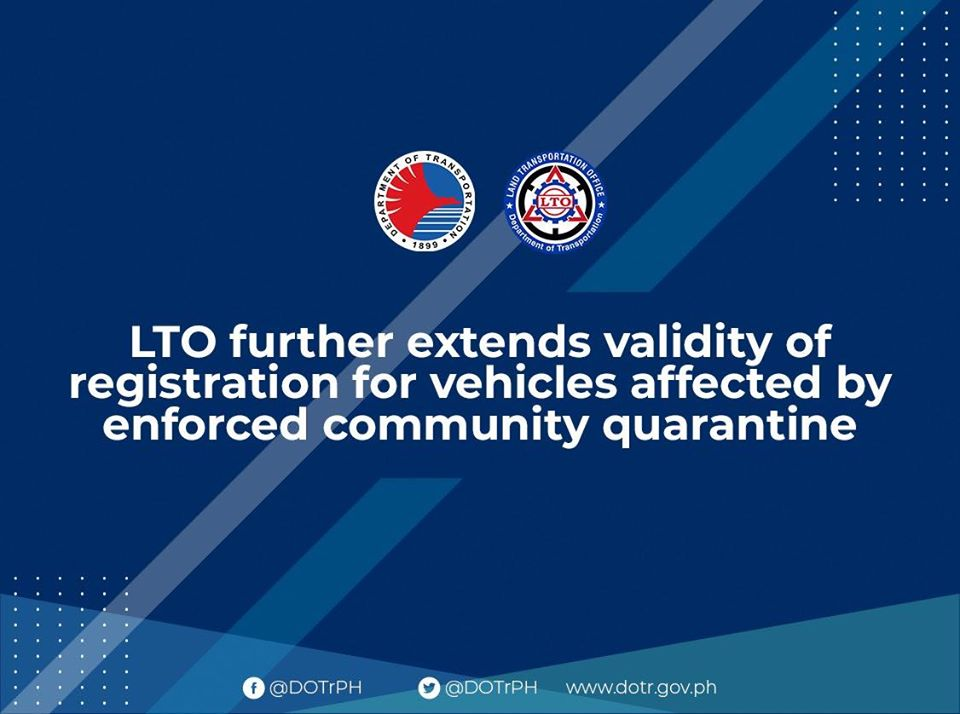 Lto Further Extends Validity of Registration for Vehicles Affected by Enforced Community Quarantine