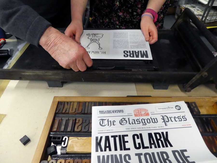Get your name in headlines with Glasgow Press and Newspaper Club