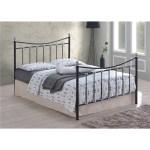 Black Silver Chrome Metal Bed Frame King Size 5ft