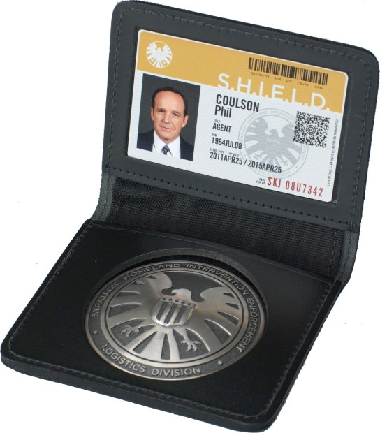 Agent Coulson S.H.I.E.L.D. Badge and ID Card And Personlized ID Card