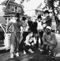 6 Run DMC & posse Hollis Queens NY ┬®JanetteBeckman 1984 Courtesy of Fahey_Klein Gallery, Los Angeles
