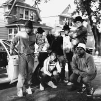 6 Run DMC & posse Hollis Queens NY ┬®JanetteBeckman 1984 Courtesy of Fahey_Klein Gallery, Los Angeles