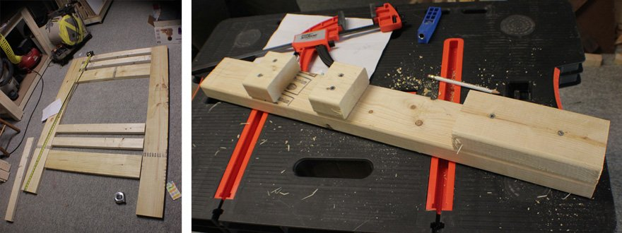 The jig helped with the pocket holes as well as assembly.