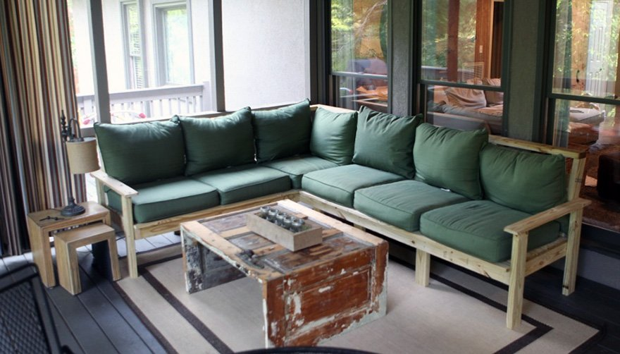 How to make an outdoor sectional i like to make stuff for How to build a sectional sofa