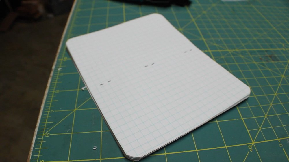 how to make a pocket in a notebook