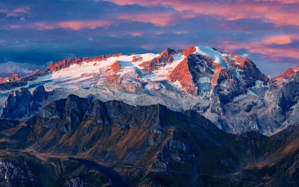 Daily Wallpaper: Marmolada Glacier, Colfosco, Italy   I ...