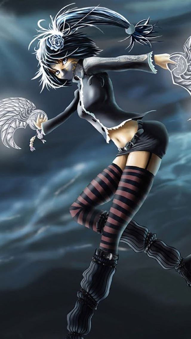 Cartoon Girl Ninja iPhone 4s Wallpaper Download  iPhone Wallpapers