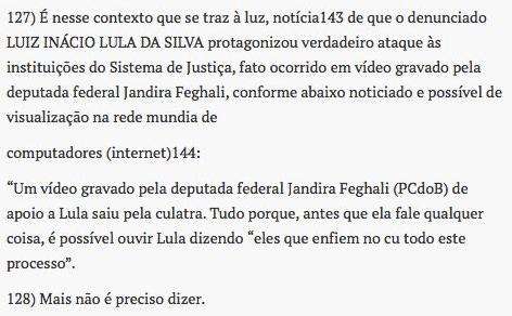 Vídeo de Lula foi mencionado no pedido de prisão preventiva