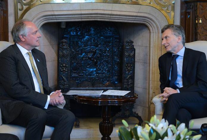 Paul Polman, CEO da Unilever, se reúne com Maurício Macri para anunciar novos investimentos na Argentina