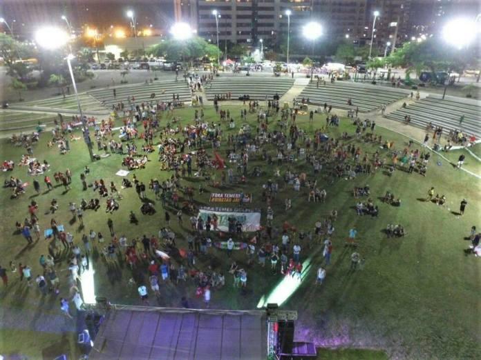 Showmício a favor de Lula em Fortaleza-CE atraiu apenas 200 pessoas. Fonte: página oficial do evento.