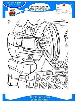 Transformers Boyama Sayfas Indir Free Coloring Pages Globalchin