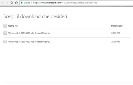 Download Strumenti di amministrazione remota del server per Windows 7