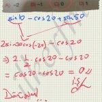 Trigonometri dönüşüm formülleri kullanimi soru cozum..
