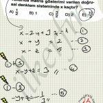 Doğrusal denklemler ve matris ilişkisi