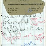 Trigonometrik integraller karmaşık olabilir. Kurallar bilinmeli