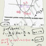 Parabolun en küçük değeri tepe noktasinin ordinatidir(yani y degeri) onemli #lys banko sorusu
