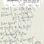 Alanı hesaplamak için önce parabol ve doğru denklemleri yapılmalı.