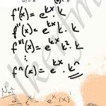 n. Dereceden türevin, k nın n. kuvveti olduğunu görelim. #ygs #lys matematik #ucrenk türev