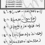 Karmaşık sayının karesi alınırken Trigonometrik acilar 2 ile carpilir