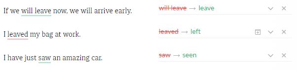 Grammarly fiil zamanları