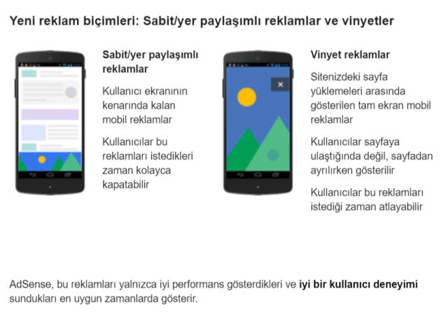 Adsense mobil reklamlar