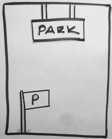park wall