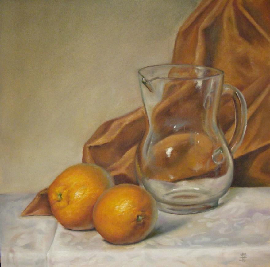 137. Appelsiinit ja lasikannu