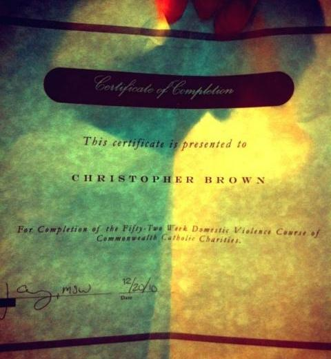 Chris Brown Graduates From Domestic Violence Class