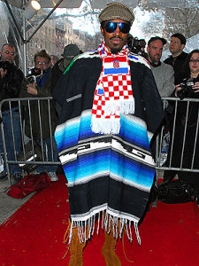 Andre wearing a Blanket