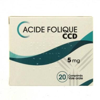 Acide folique CCD 5mg 20cpr - Médicament Grossesse - IllicoPharma