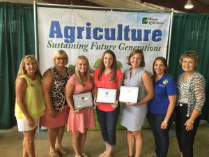 IAW  Scholarship winners at the Illinois State Fair Aug. 2015.