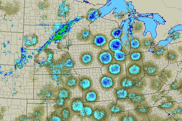 Nexrad Radar Showing Bird Migration