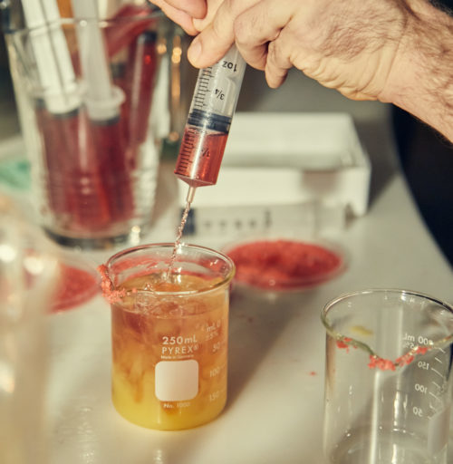 Beaker Cocktail with Syringe