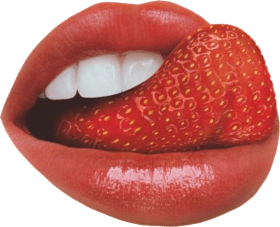 Tongue as strawberry