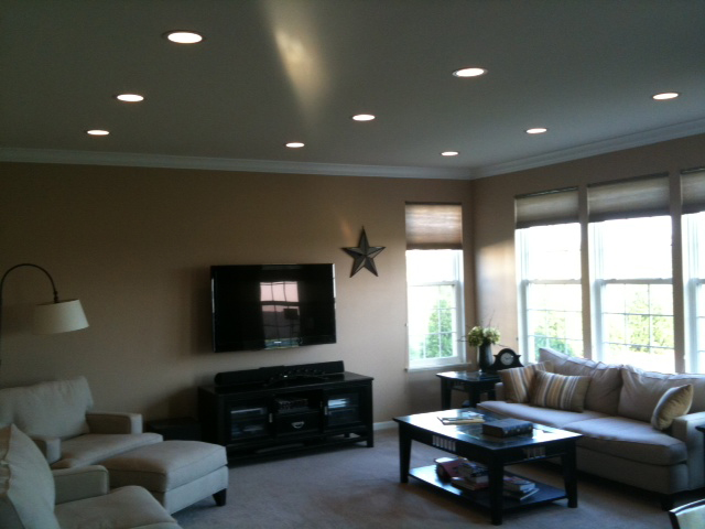 Recessed Lighting Installation Drywall Repair Painting