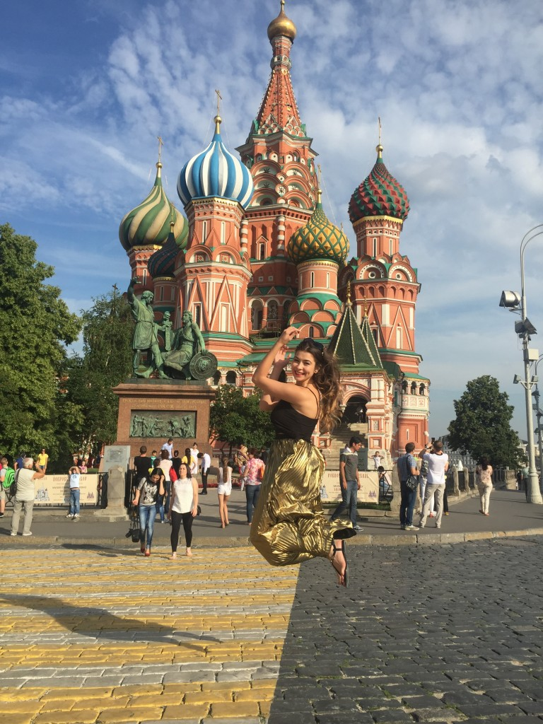 Jumping on The Red Square