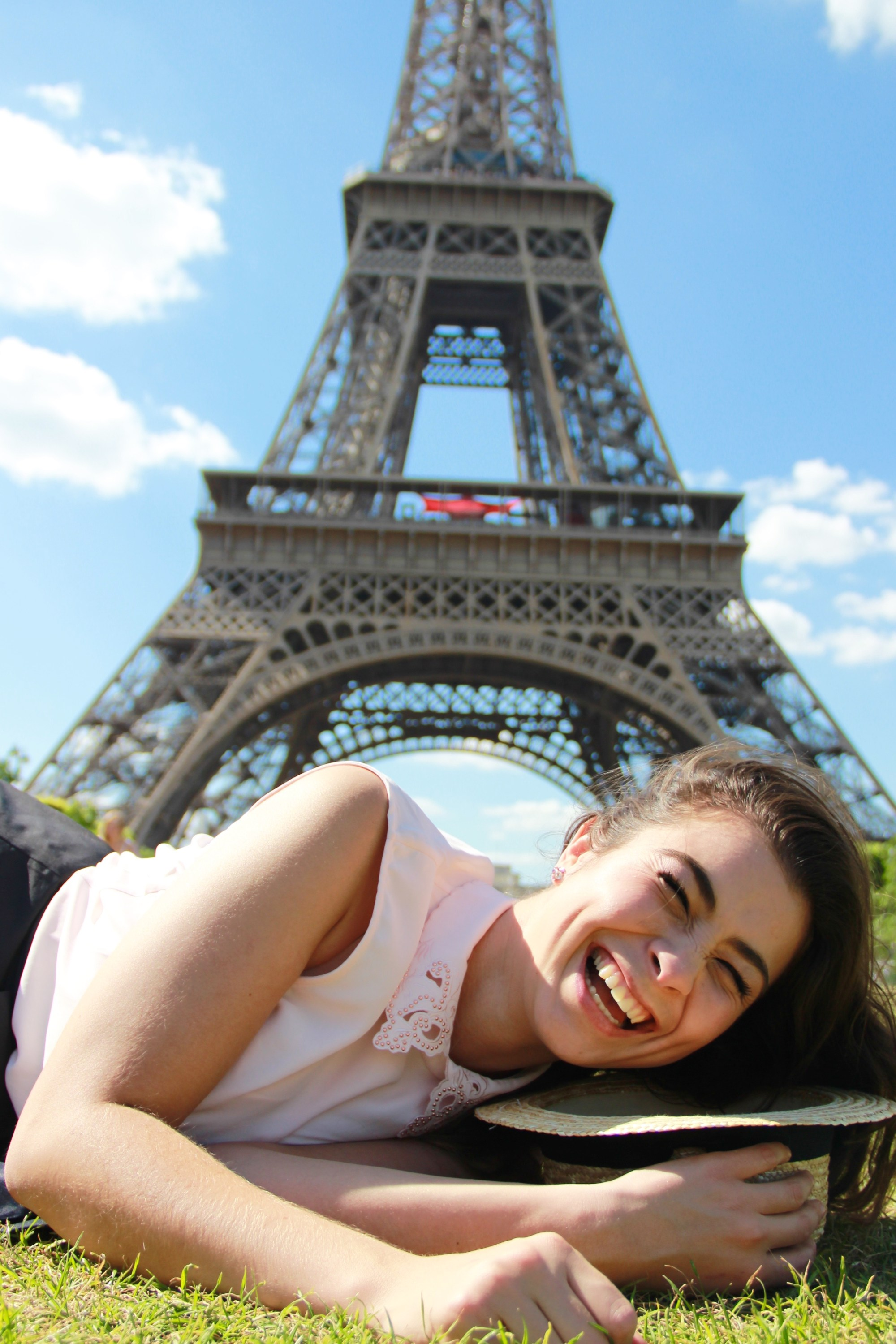 Taking a little nap by the Eiffel Tower ;)
