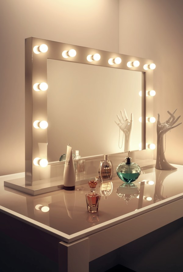 High Gloss White Hollywood Make Up Theatre Dressing Room ...