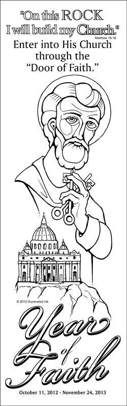 Catholic Coloring Poster - Year of Faith