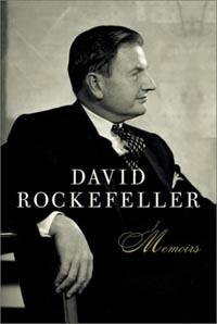 The cover of David Rockefeller's book: Memoirs [2002]