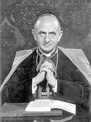 Pope Paul VI. Ustashe leaders also used the Vatican network. (Camera Press)