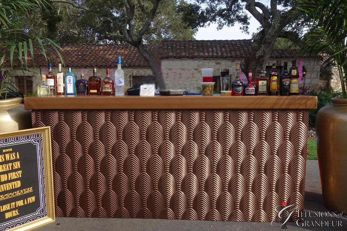 Bronze Art Deco Bar