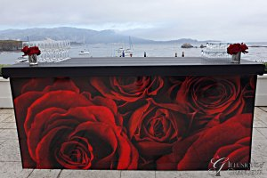 "Red Rose Bar 96"" x 30"" x 42""h"